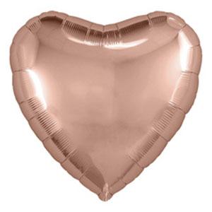 Шар сердце большое Розовое Золото