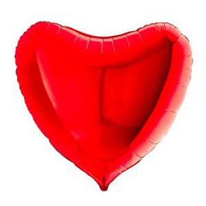 Шар сердце огромное Красный