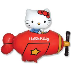 Котенок с бантиком в самолете (красный)