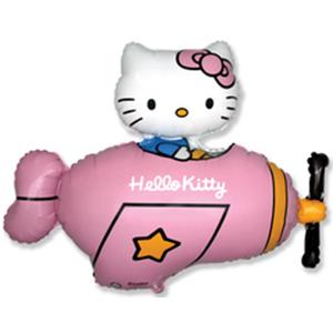 Котенок с бантиком в самолете (розовый)