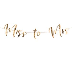 Гирлянда-буквы Miss To Mrs розовое золото