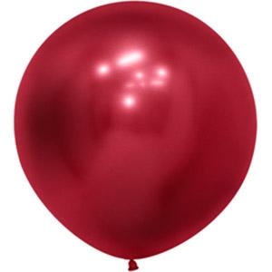 Шар большой без рисунка рефлекс красный
