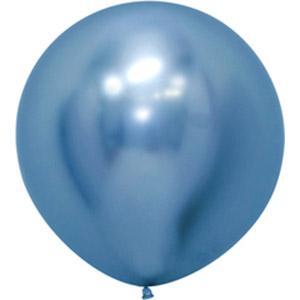 Шар большой без рисунка рефлекс синий