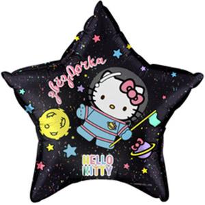 Шар звезда Hello Kitty Космонавт