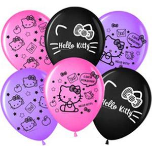Шар с рисунком Hello Kitty С Днем Рождения!в